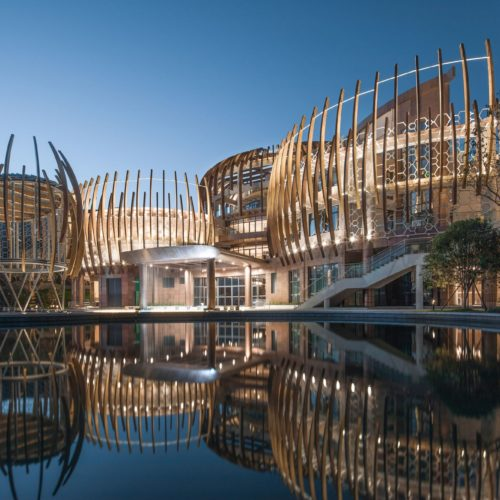 JADE+QA & stylus studio combine organic forms in the joe lalli narada resort hotel in China