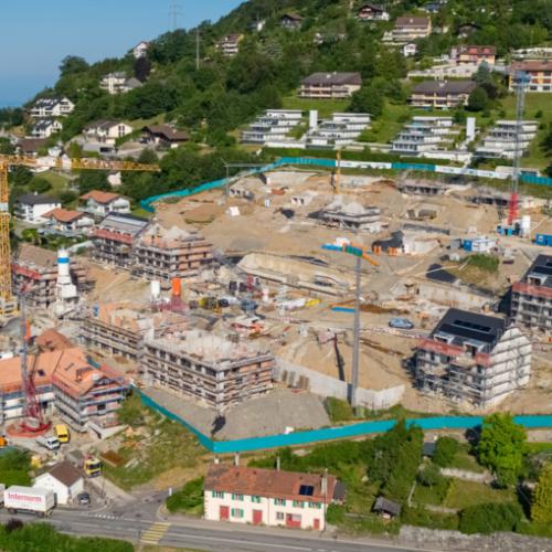 Jongny, dix immeubles et 16 villas gérés en entreprise totale par EDIFEA
