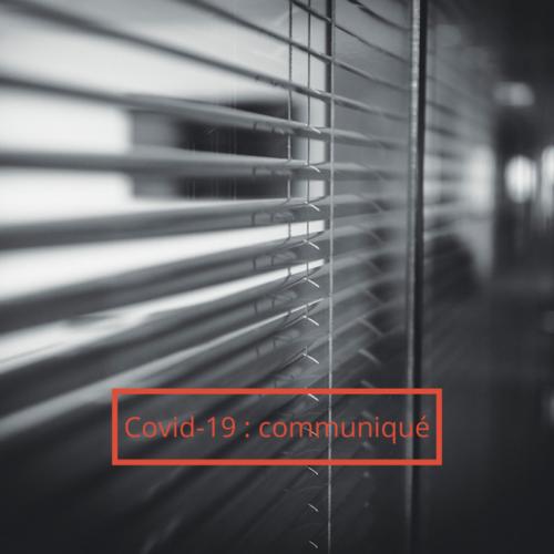 Communiqué Coronavirus
