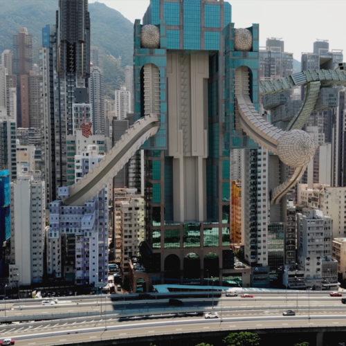 A Futuristic Cityscape by AUJIK