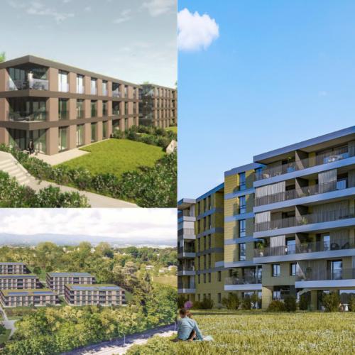 EDIFEA intervient en entreprise totale pour huit immeubles à Prangins, et quatre à Genève
