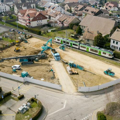 Démarrage du chantier de construction du collège DLV6 à Cheseaux-sur-Lausanne