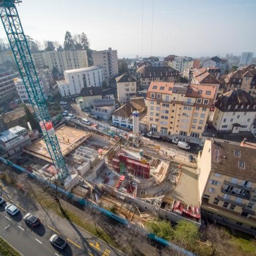 EDIFEA est heureuse de vous informer de l'avancée du chantier «La Colline» au centre-ville de Lausanne