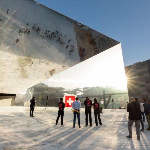 Le Pavillon suisse de l'Expo universelle de Dubaï est terminé